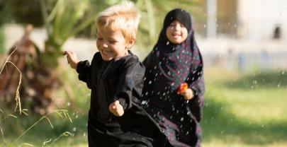 © Dabiq - glückliche Kinder im Land des Islam