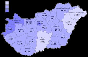 Wahlbeteiligung Ungarn Referendum 2003 © Wikipedia