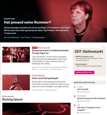 """Theatralisch - """"Die Zeit"""" in Trauer"""